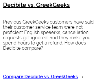 Decibite vs GreenGeeks