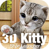 Cute Kitty 3D Live Wallpaper & Launcher