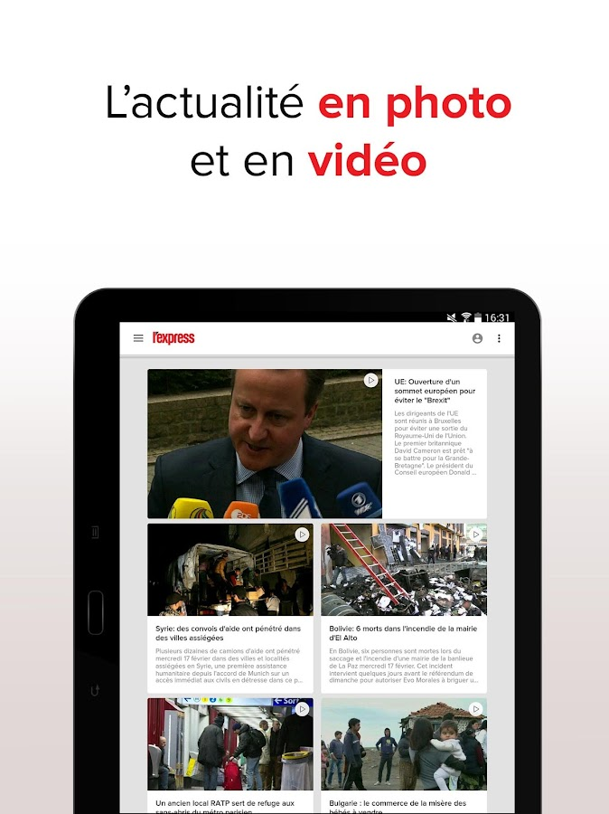 L'Express : l'actu en direct – Capture d'écran