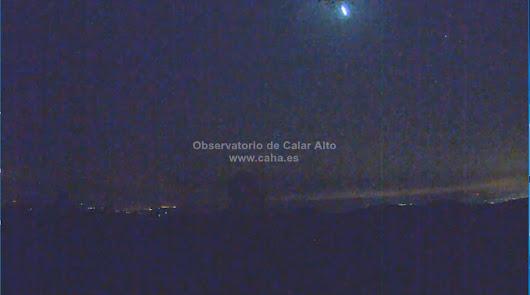 Una bola de fuego sobrevuela Almería a 80.000 kilómetros por hora