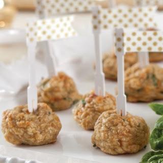 Chicken Meatballs with Spicy Honey Mustard Sauce Recipe