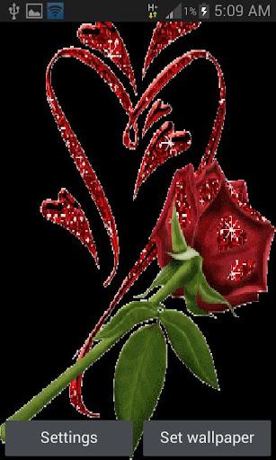 Red Shine Rose LWP apktram screenshots 1