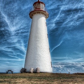 Point Prim Lighthouse PEI by Salehin Chowdhury - Landscapes Travel ( canadian maritimes, lighthouse, pei )
