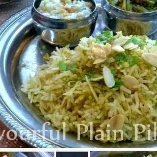 Flavourful Plain Pilau.