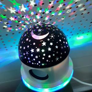 Lampa muzicala cu proiectie stele si luna