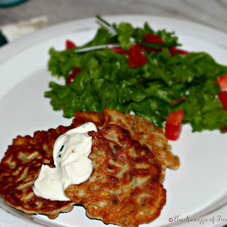 Chickpea and Pancetta Fritters with Maple Chile Yogurt