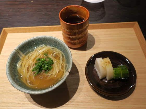 RESTAURANT YAMAUCHI GINZA@銀座(すっぽんスープのパスタラーメン)