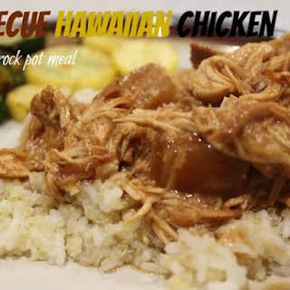 Barbecue Hawaiian Chicken - Freezer to Crock Pot Meal.