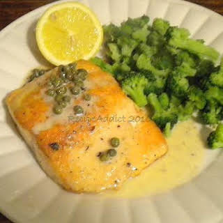 Salmon In White Wine Cream Sauce.