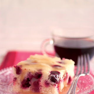 Cranberry Cake with Hot Butter Sauce Recipe