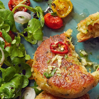 Halloumi, Courgette and Herb Cakes Recipe