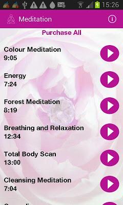 Meditation and More - screenshot