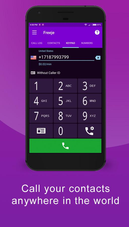 Freeje - International Business Phone Number- screenshot