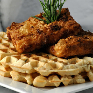 Chicken and Waffles [Vegan].