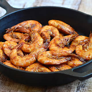 Shrimp with Oyster Sauce.