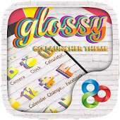 Glossy GO Launcher Theme