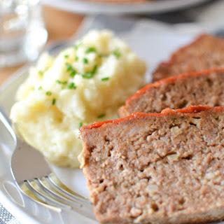 Diner Style Meatloaf with Ketchup Glaze.