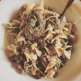 Light Beef & Mushroom Stroganoff