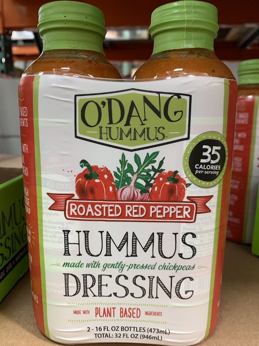 Roasted Red Pepper Hummus Dressing