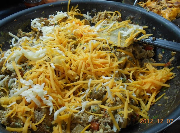 Then I added some grated cheese I had leftover and added it to the...