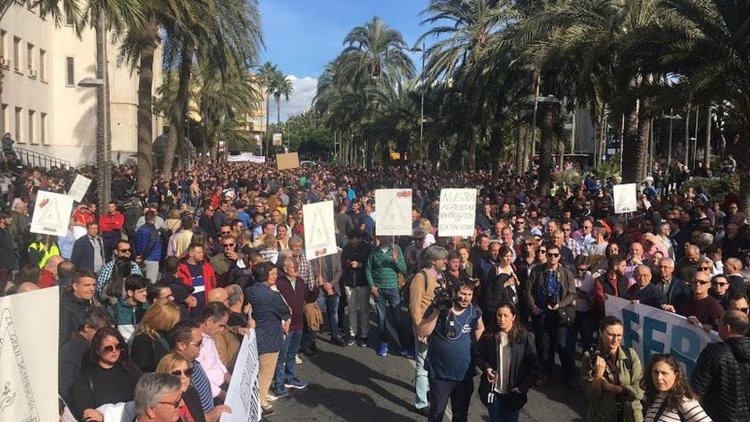 Protestas en Almería.