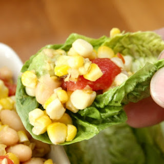 Grilled Corn Salad Lettuce Cups.