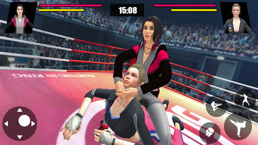 Women Wrestling Ring Battle: Ultimate action pack  captures d'écran 1