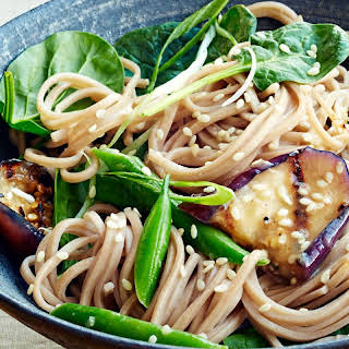 Soba with Miso-Glazed Eggplant.