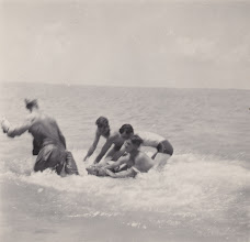 Photo: Beach Party. Ft. Myers, FL.  Spring 1942.