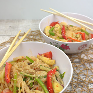 Heart to Heart Asian Noodle Salad.
