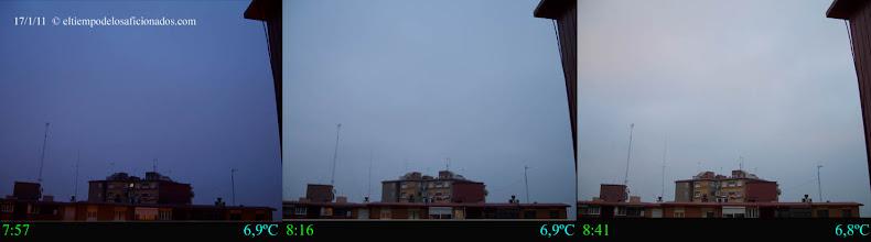 Photo: Amanecer del día 17/01/11