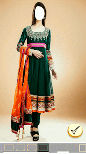 Girl Shalwar Kameez Photo Edit - náhled