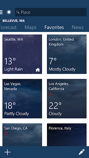 MSN Weather - Forecast & Maps 1.2.0 screenshots 3