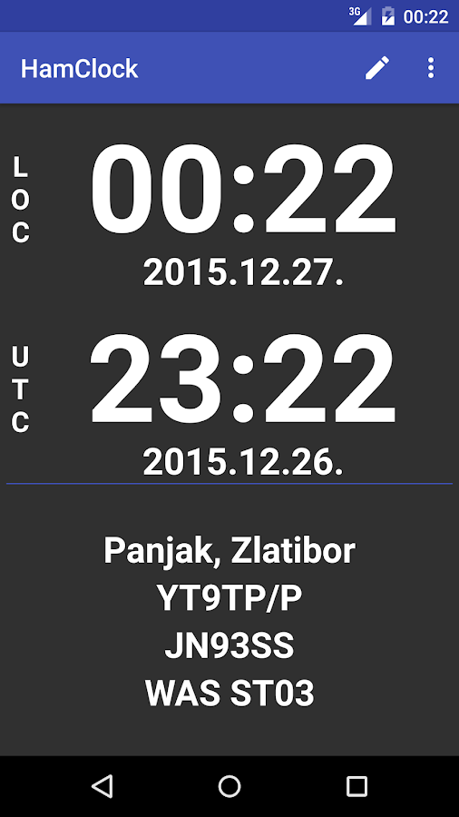 Ham Clock- screenshot
