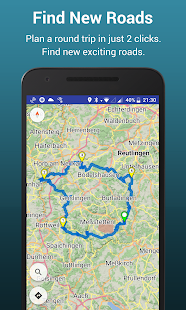 Kurviger - GPS Moto avec routes pittoresques Capture d'écran