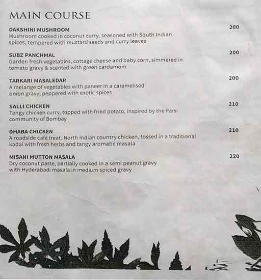 Rain Forest menu 4