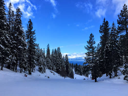 What to Do in Lake Tahoe in the Winter // View of Lake Tahoe from Diamond Peak, Nevada