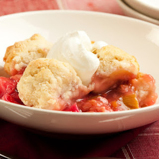 5. Skillet Strawberry Cobbler with Cream Cheese Swirled Biscuits