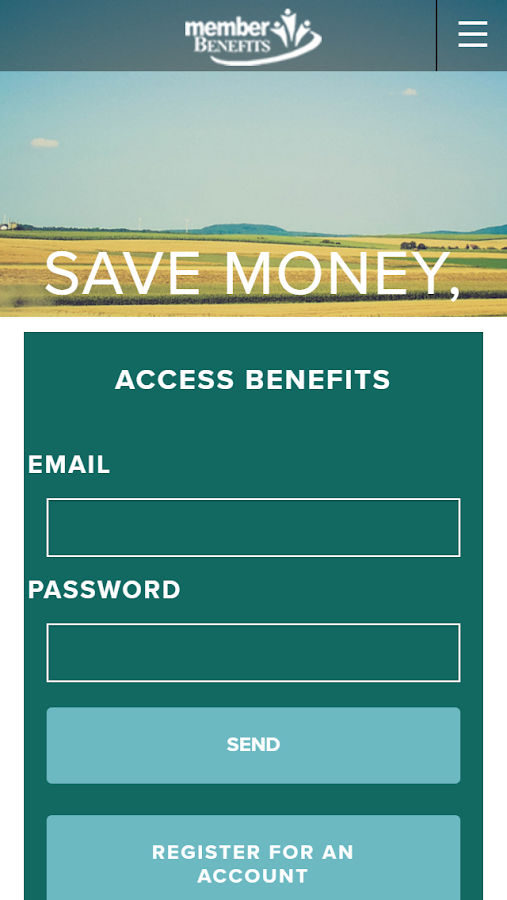 Member Benefits- screenshot