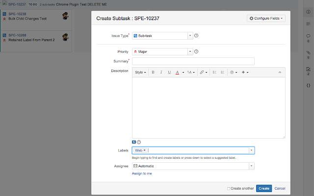 Atlassian Agile SubTask Label Helper