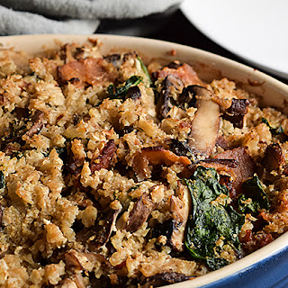 Mushroom, Bacon, and Cauliflower Casserole