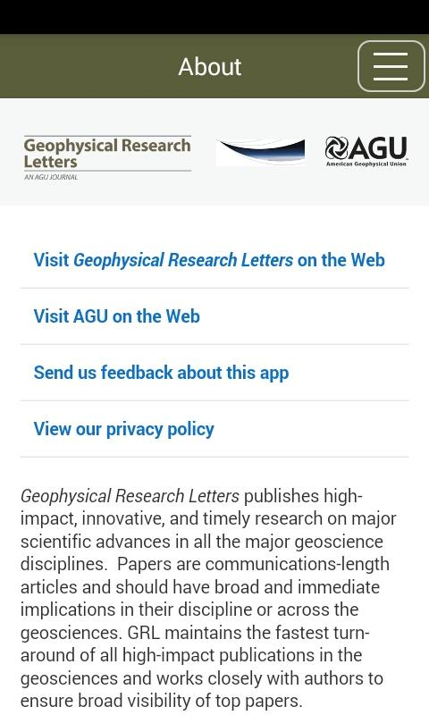 Geophysical Research Letters- screenshot