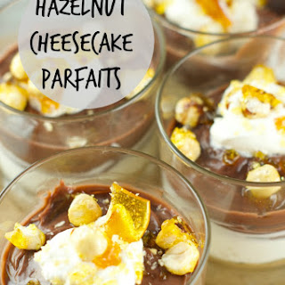 No Bake Hazelnut Cheesecake Parfaits With Candied Hazelnuts