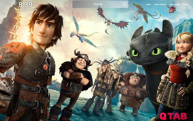 How to Train Your Dragon 2 Wallpapers New Tab