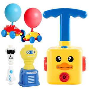 Lansator de baloane cu masinute, astronaut si racheta