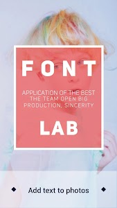 Font Lab-Text on Photo  Editor v1.0.0