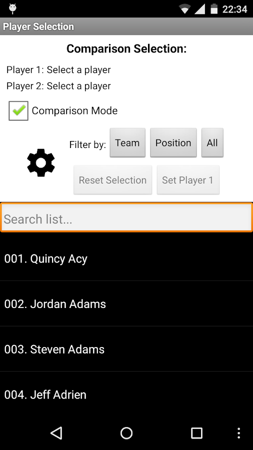 Stats Analyzer for NBA- screenshot