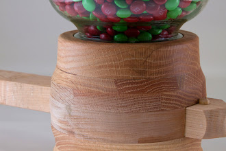 "Photo: Bob Grudberg 6""x 16"" M&M dispenser detail [oak]"