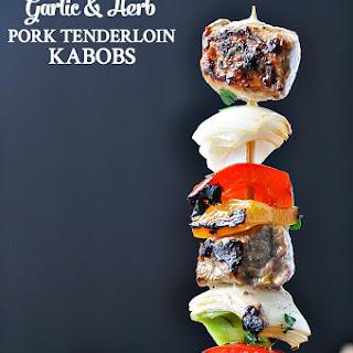3-Ingredient Garlic and Herb Grilled Pork Tenderloin Kabobs Recipe