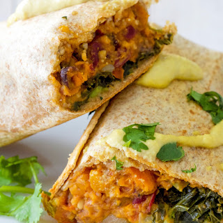 Make-Ahead Kale and Sweet Potato Burritos